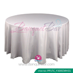 silver Polyester Tablecloth for wedding,Banquet Polyester Table