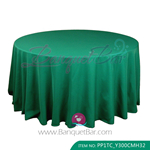 dark green Polyester Tablecloth for wedding,Banquet Polyester Ta