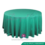 green Polyester Tablecloth for wedding,Banquet Polyester Table C