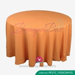 orange Polyester Tablecloth for wedding,Banquet Polyester Table