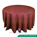 chocolate Polyester Tablecloth for wedding,Banquet Polyester Tab
