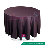 Eggplant Purple Polyester Tablecloth for wedding,Banquet Polyest