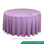 lilac Polyester Tablecloth for wedding,Banquet Polyester Table C