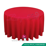 red Polyester Tablecloth for wedding,Banquet Polyester Table Cov