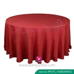 Dark red Polyester Tablecloth for wedding,Banquet Polyester Tabl
