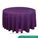 purple Polyester Tablecloth for wedding,Banquet Polyester Table