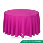 Fuchcia Polyester Tablecloth for wedding,Banquet Polyester Table