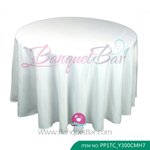 white Polyester Tablecloth for wedding,Banquet Polyester Table C