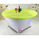 lime-green Stretch table topper,Spandex table top,Lycra Covers