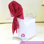 burgundy Satin Chair Cap,Wedding Chair sash for sale