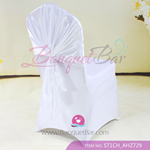 white Satin Chair Cap,Wedding Chair sash for sale