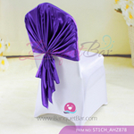 dark purple Satin Chair Cap,Wedding Chair sash for sale