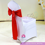 red Satin Chair Sash,Wedding Satin Chair Sashes for sale