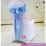 sky blue Satin Chair Sash,Wedding Chair Sashes for sale