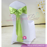 lemon green Satin Chair Sash,Wedding Chair Sashes for sale