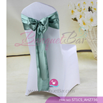 grey green Satin Chair Sash,Wedding Chair Sashes for sale