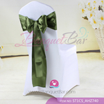 green willow Satin Chair Sash,Wedding Chair Sashes for sale