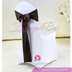 coffee Satin Chair Sash,Wedding Chair Sashes for sale