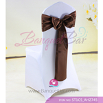 chocolate Satin Chair Sash,Wedding Chair Sashes for sale