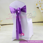 lavendar Satin Chair Sash,Wedding Chair Sashes for sale