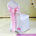 light pink Satin Chair Sash,Wedding Chair Sashes for sale