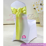 lemon yellow Satin Chair Sash,Wedding Chair Sashes for sale