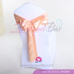 salmon Satin Chair Sash,Wedding Chair Sashes for sale