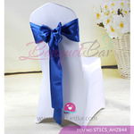 royal blue Satin Chair Sash,Wedding Chair Sashes for sale