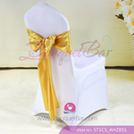 golden Satin Chair Sash,Wedding Chair Sashes for sale