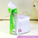 green Satin Chair Sash,Wedding Chair Sashes for sale