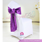 red purple Satin Chair Sash,Wedding Chair Sashes for sale