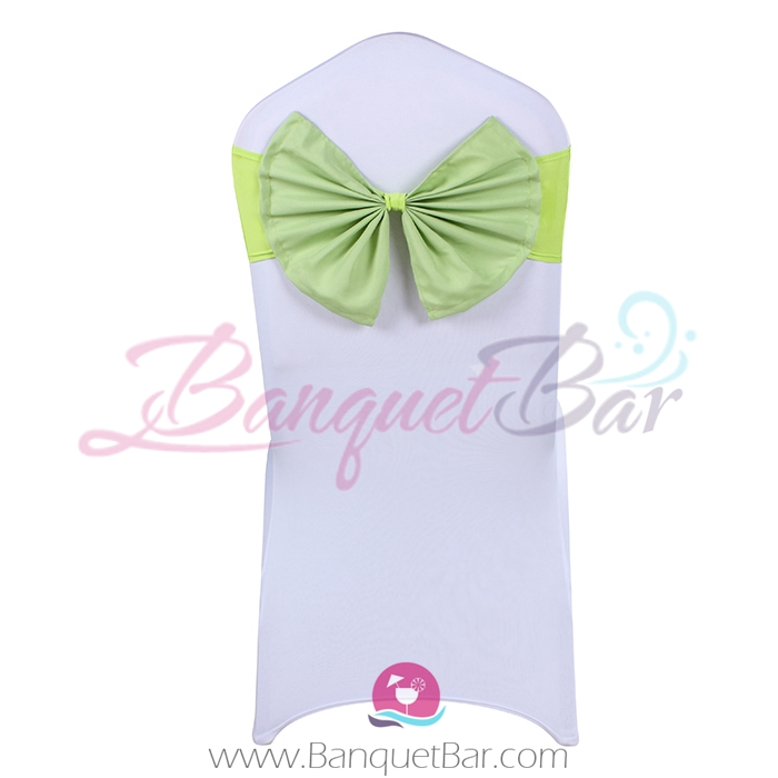 lime-green stretch chair sash with Bow-Tie