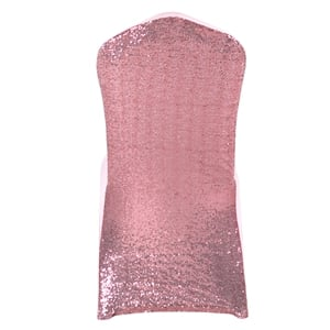 Sequin light-pink Stretch chair covers, Wedding Spandex chair co
