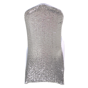 Sequinsilver-grey Stretch chair covers, Spandex chair cover,Lycr