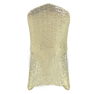 Sequin dark-champagne Stretch chair covers,Spandex chair cover,L