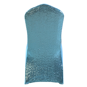 Sequin blue Stretch chair covers, blue Spandex chair cover,Lycra