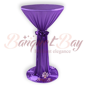 Purple cake table covers for wedding and bistro