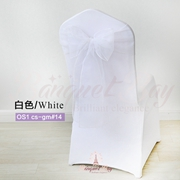 White crystal organza chair sash for wedding banquet chair back