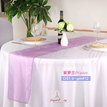 Violet crystal organza Table-Runner,Table Flags for wedding banq