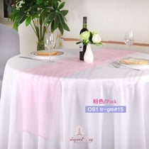 Pink crystal organza Table-Runner,Table Flags for wedding banque
