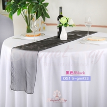 Black crystal organza Table-Runner,Table Flags for wedding banqu