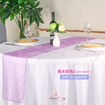 Lavender crystal organza Table-Runner,Table Flags for wedding ba
