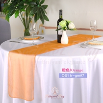 Orange crystal organza Table-Runner,Table Flags for wedding banq
