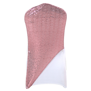 Sequined light-pink Spandex Chair cap cover Hat/Suit Bag