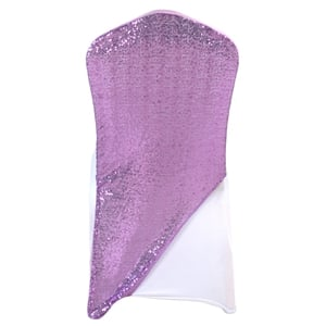 Sequined lilac Spandex Chair cap cover Hat/Suit Bag