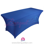 Dark Blue stretch Rectangle Table Covers