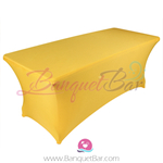 Yellow stretch Rectangle Table Covers