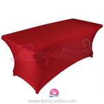 Red stretch Rectangle Table Covers