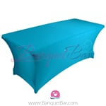 Blue stretch Rectangle Table Covers