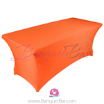 Orange stretch Rectangle Table Covers